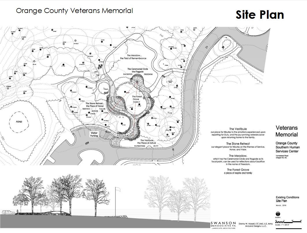 Memorial Site Plan With Elevation
